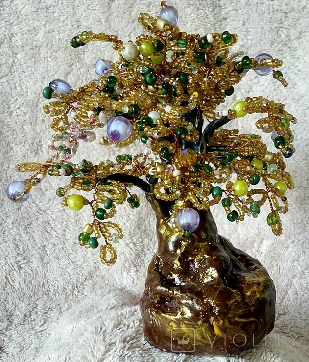 Дерево из бисера 3., фото №5