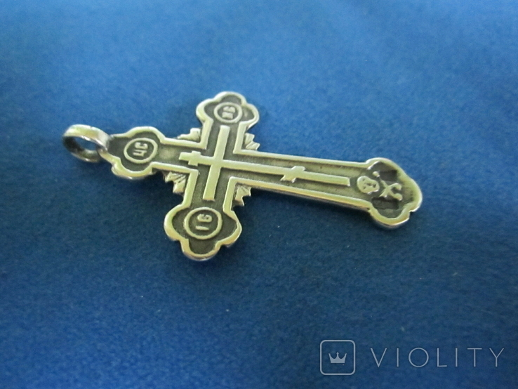 Крестик серебро 84 пробы., фото №4