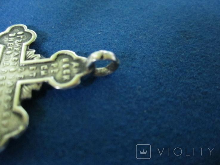 Крестик серебро 84 пробы., фото №7
