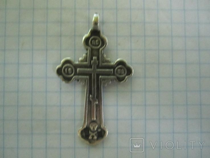 Крестик серебро 84 пробы., фото №11