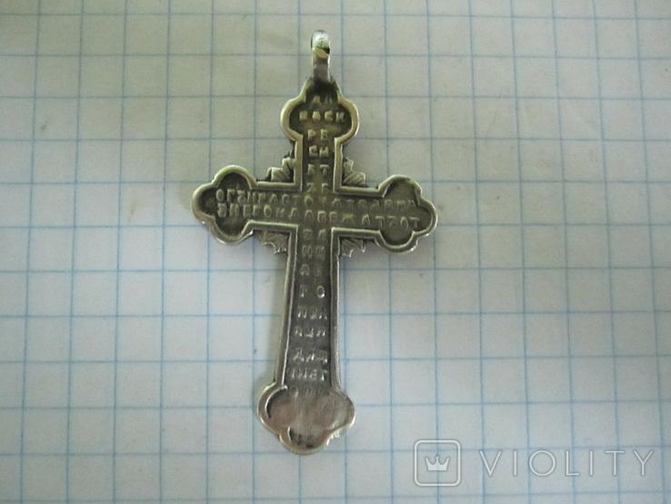 Крестик серебро 84 пробы., фото №12