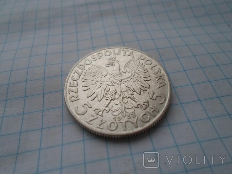 5 злотых (Ядвига) 1933 год, фото №5