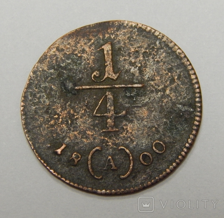 1/4 крейцера, 1800 А Австрия, фото №2