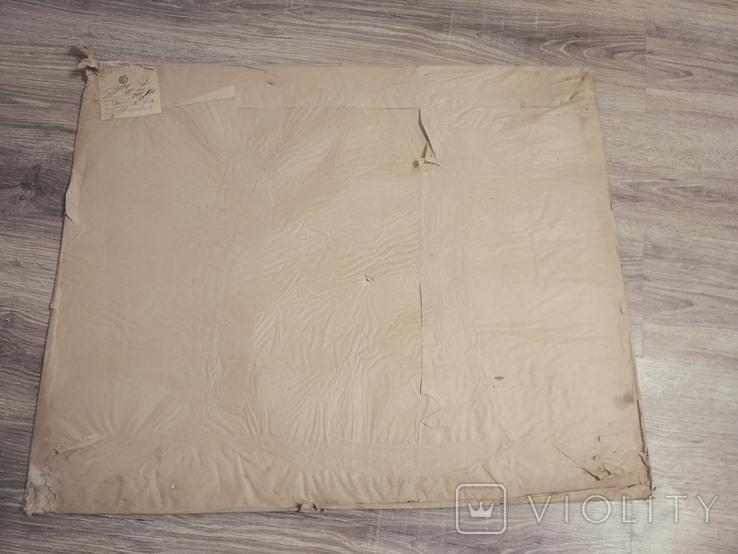 Оргстекло полностью прозрачное,лист 80х60 см.,толщина 1 мм, СССР, в оригинальной упаковке, фото №2