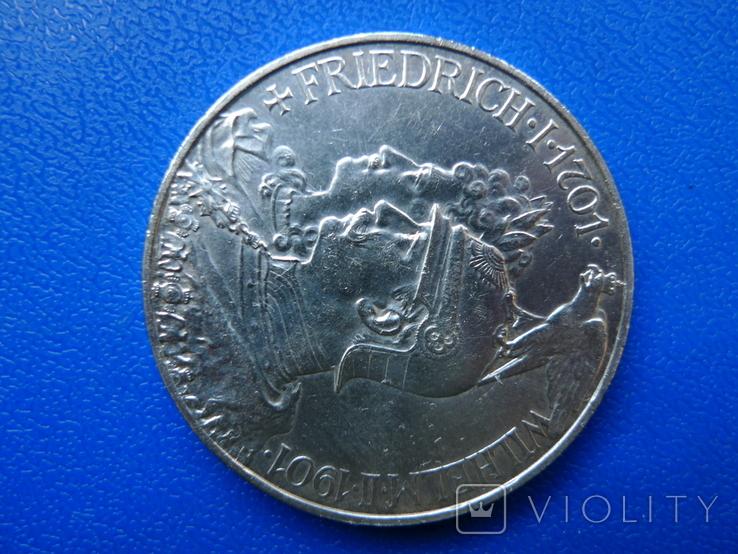 "5 марок 1901 Пруссия ""200 Лет Династии Гогенцоллернов"", фото №6"