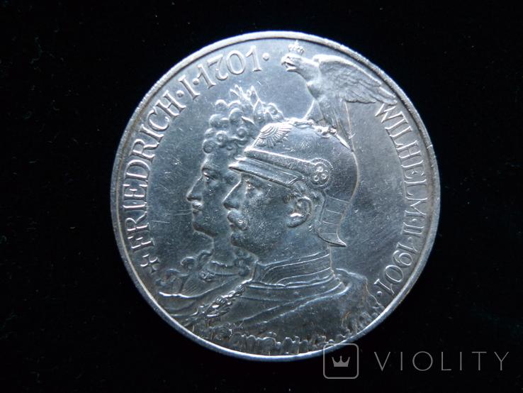 "5 марок 1901 Пруссия ""200 Лет Династии Гогенцоллернов"", фото №2"