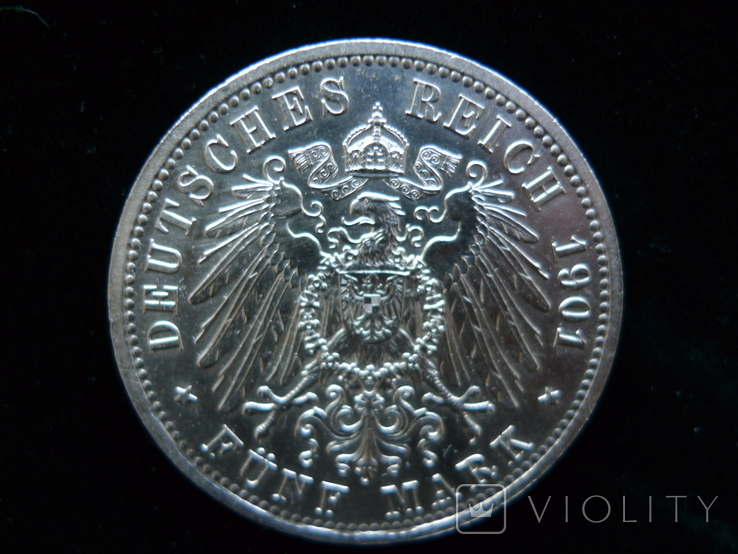 "5 марок 1901 Пруссия ""200 Лет Династии Гогенцоллернов"", фото №10"