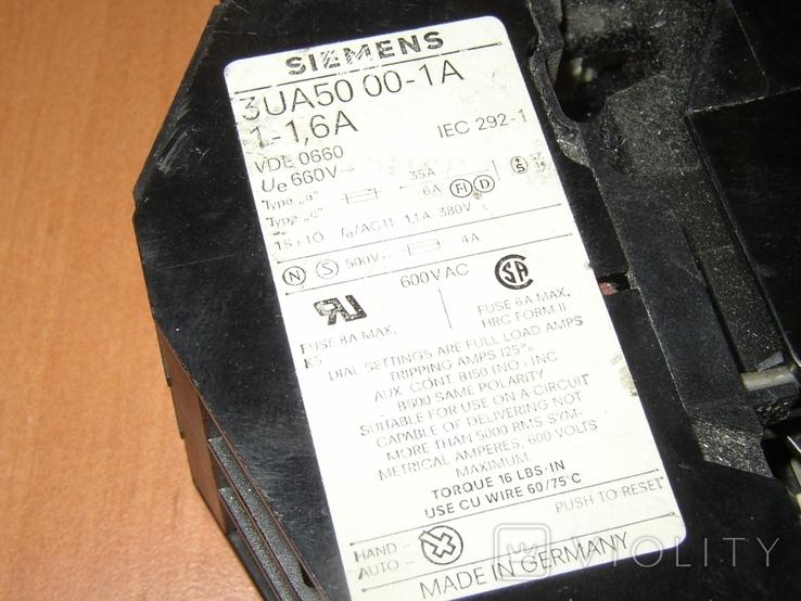 Контактор с тепловым реле Siemens, фото №5