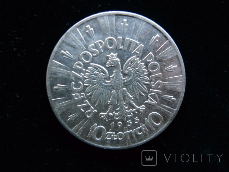 10 злотых.1935 год. Пилсудский №5, фото №4