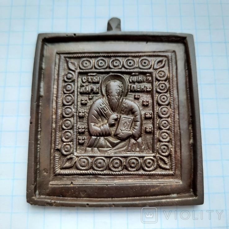 Велика натільна іконка *Антип Пергамский*, фото №2