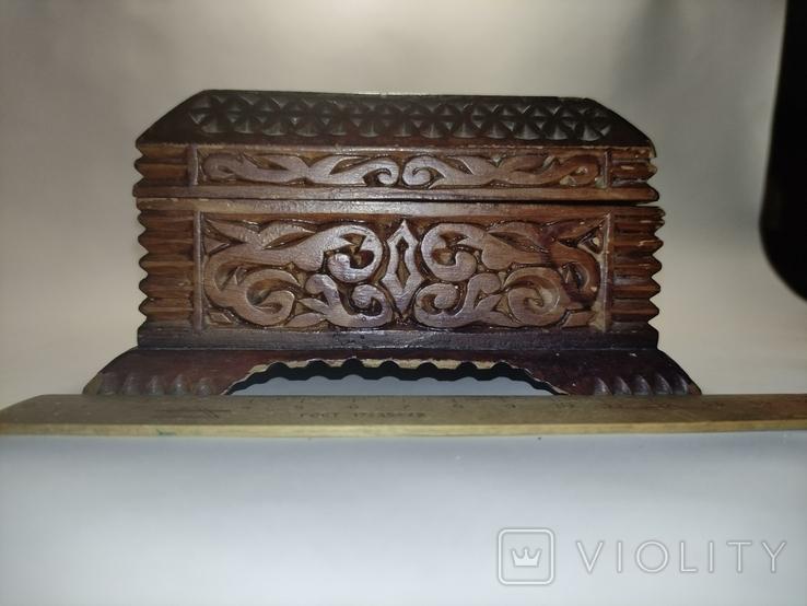Шкатулка  деревянная, резная., фото №3