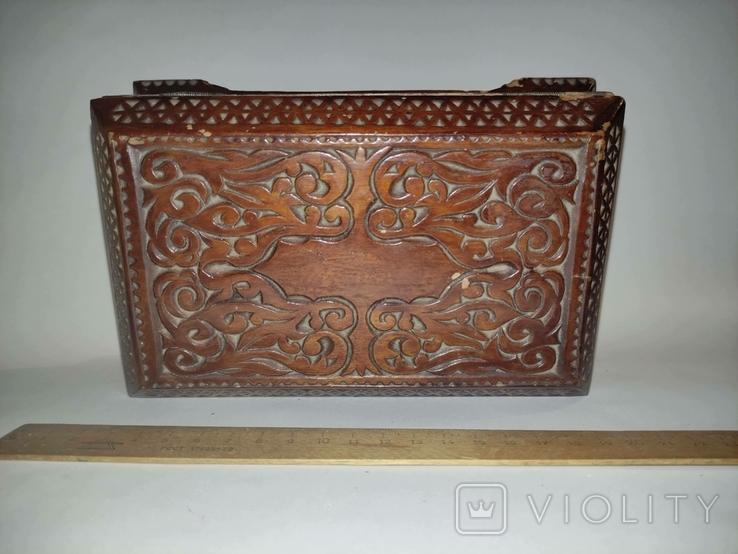 Шкатулка  деревянная, резная., фото №4