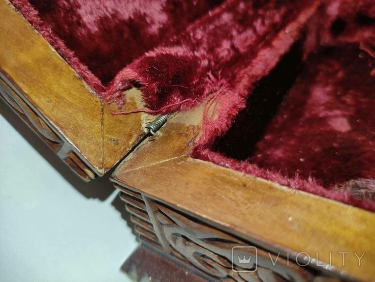 Шкатулка  деревянная, резная., фото №10