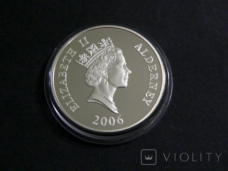 Олдерни, 5 фунтов 2006 - ЧАРЛЬЗ ДИККЕНС - серебро, фото №4