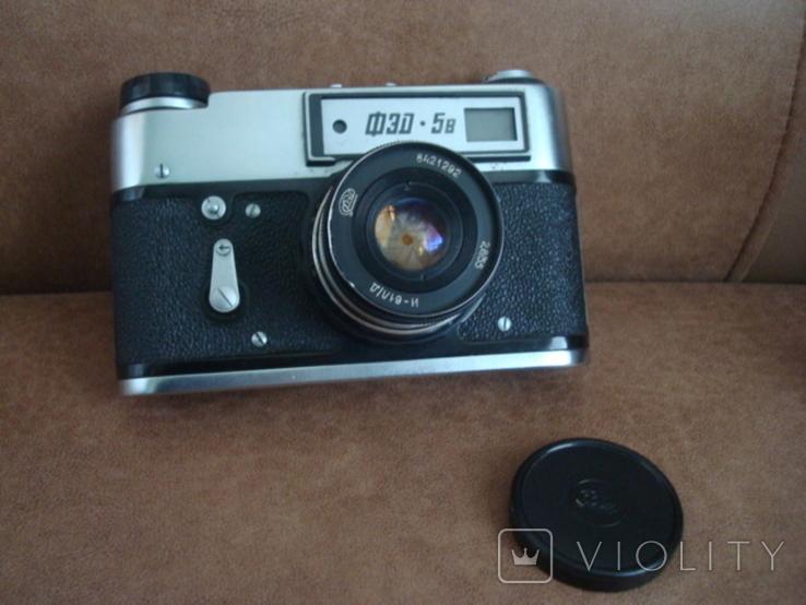 Фотоаппарат ФЭД-5В  И-61Л/Д  2,8/55  №8421292, фото №2