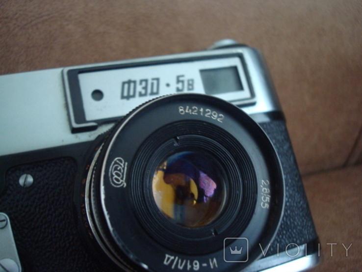 Фотоаппарат ФЭД-5В  И-61Л/Д  2,8/55  №8421292, фото №4