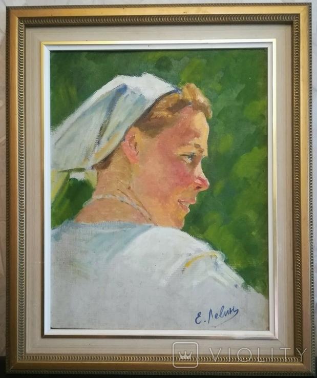 "Картина в раме "" Доярка"" 1965г., фото №2"
