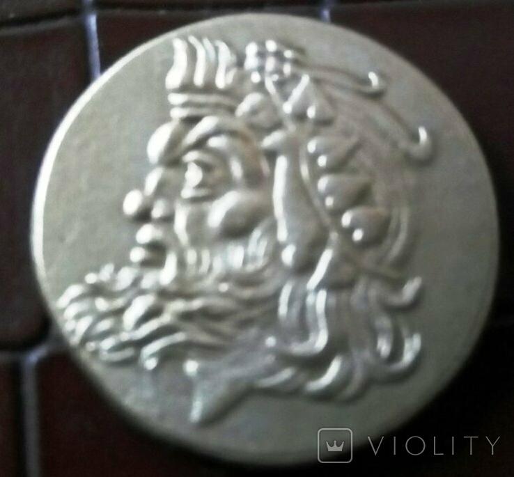 1 статер 300 р. до  нашої ери Боспорське царство -копія золотої /позолота999/, фото №3
