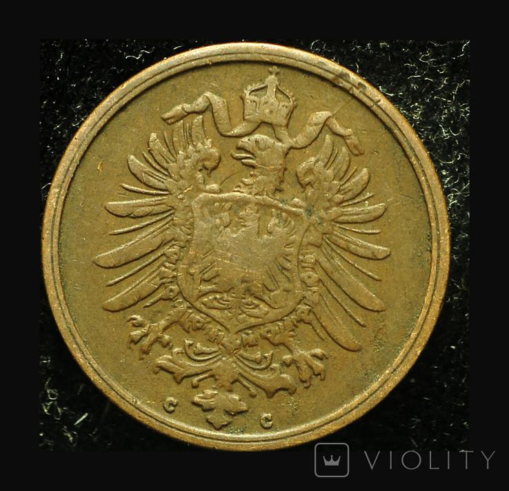 Германия 2 пфеннига 1875, фото №3