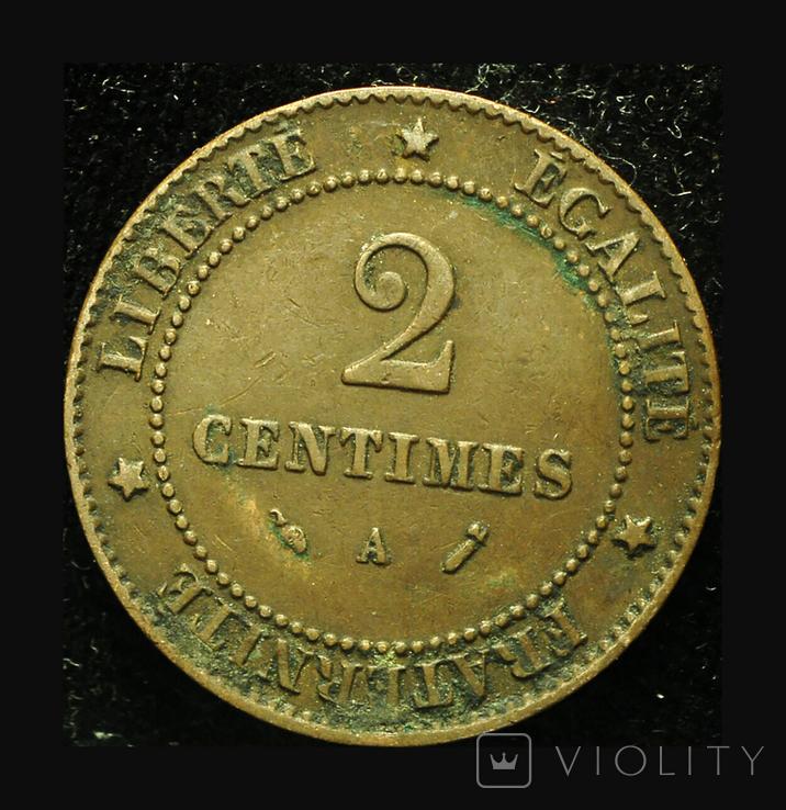 Франция 2 сентим 1896, фото №3