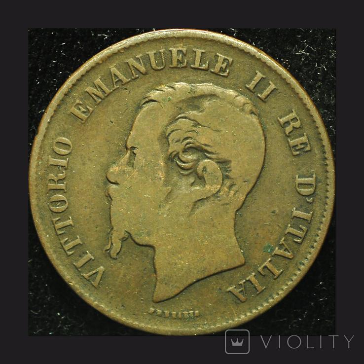 Италия 5 чентезими 1867, фото №3