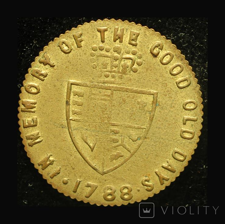 Великобритания токен 1788, фото №2