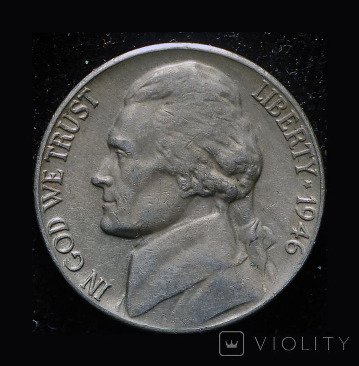 США 5 центов 1946, фото №2
