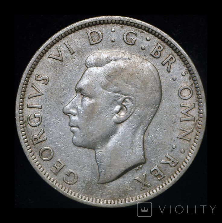 Великобритания 1/2 кроны 1942 серебро, фото №3
