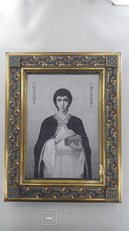 Оклад для иконы, серебро, скань, эмаль, фото №2