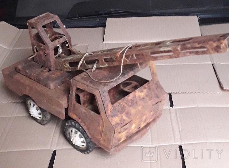 Большой кран СССР грузовик металлический, фото №2