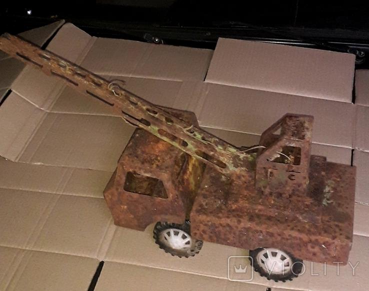 Большой кран СССР грузовик металлический, фото №3