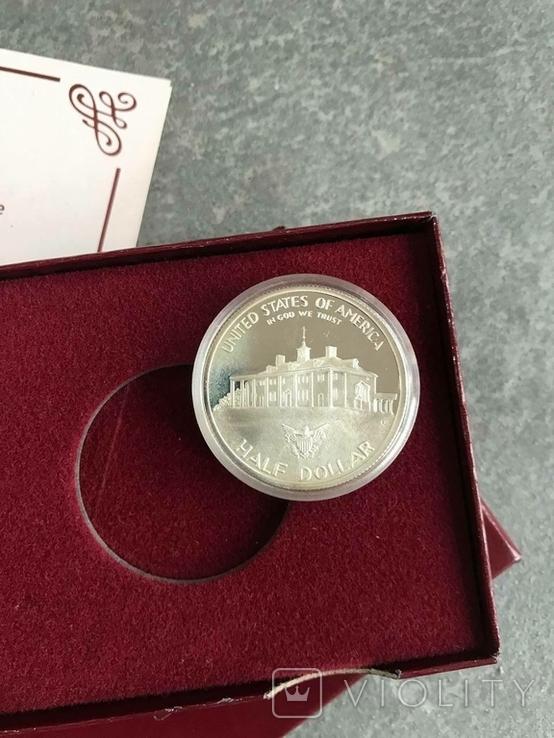 США 50 центов 1982 год серебро Вашингтон, фото №3