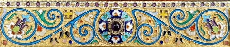 Икона Божьей матери Казанская в серебряном окладе с эмалью., фото №4