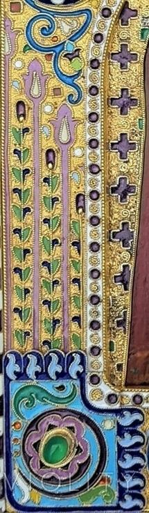 Икона Божьей матери Казанская в серебряном окладе с эмалью., фото №5