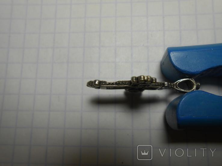 Крестик нательный Серебро 925 Вес - 1,65 грамм, фото №4