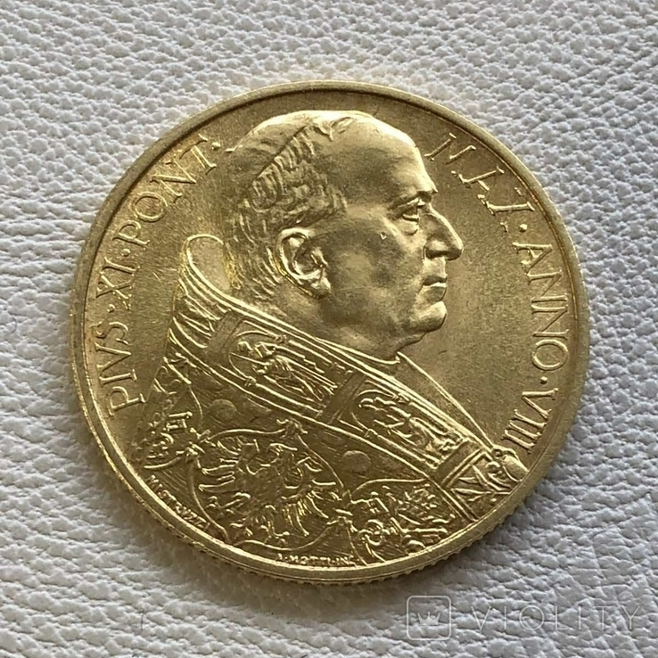 Ватикан 100 лир 1929 год 8,8 грамм золота 900