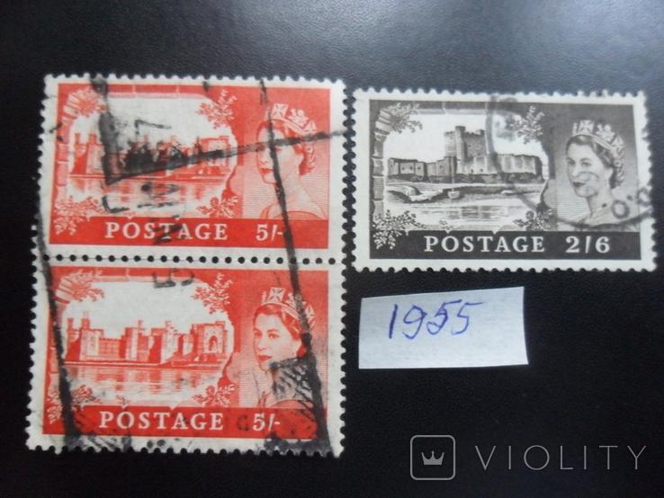 Великобритания. 1955 г. Замки.  гаш