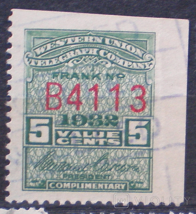 США телеграфная Вестерн Юнион 1932г