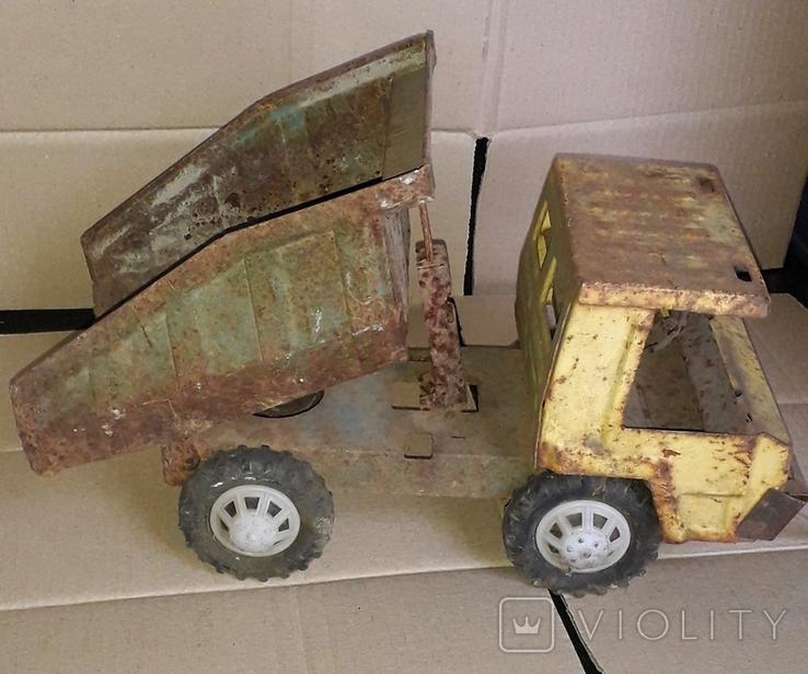 Большой грузовой самосвал ,машинка,металл.,Запорожсталь СССР 1960-1970-е, фото №5