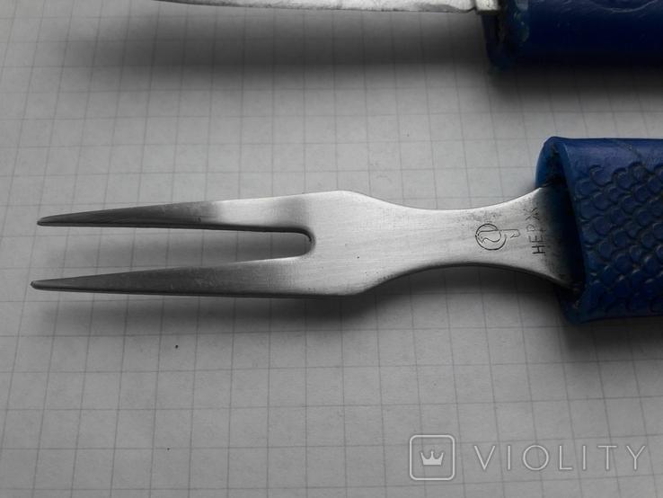 """Нож+ вилка туриста """"Рыбка"""", фото №10"""