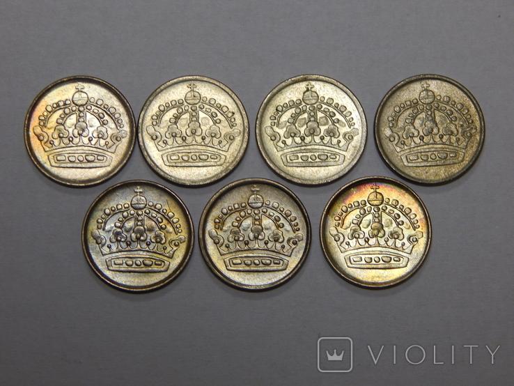 7 монет по 10 оре, Швеция, фото №3