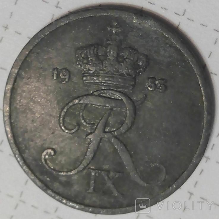 Дания 2 оре 1955, фото №3