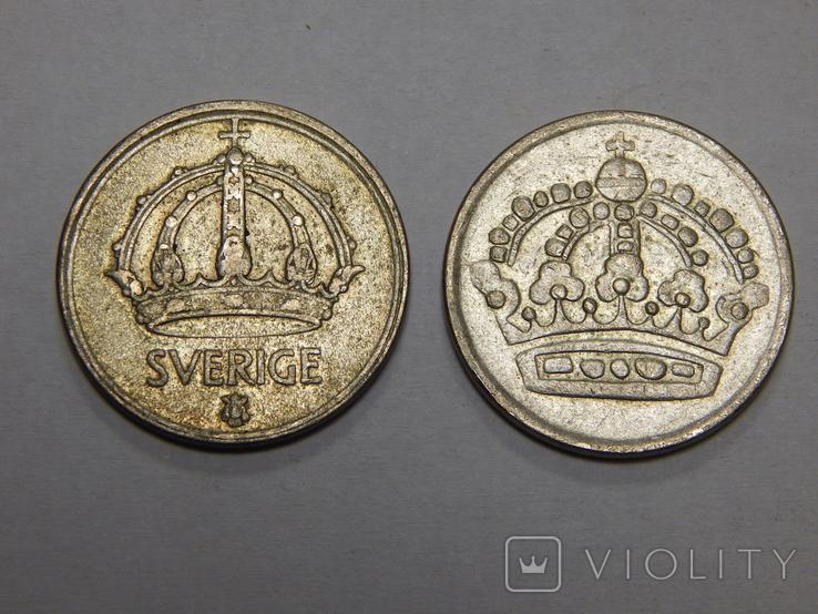 2 монеты по 50 оре, Швеция, фото №3