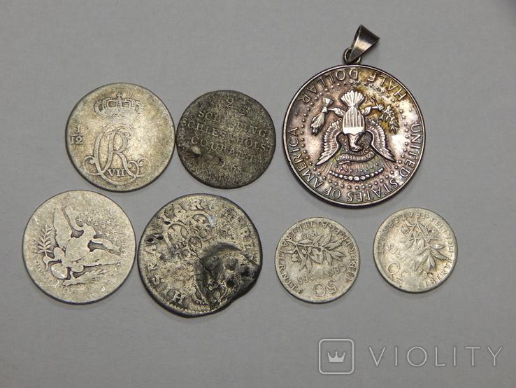 7 монет мира из серебра, фото №2