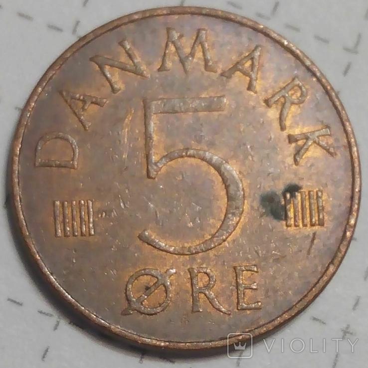 Дания 5 оре 1974, фото №2
