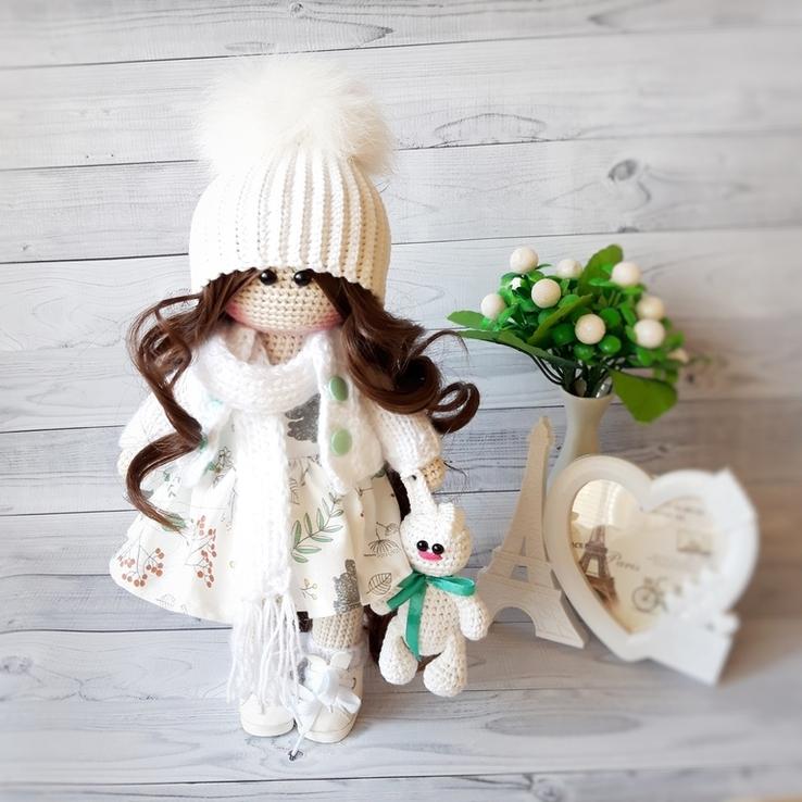 В'язана інтер'єрна лялька, фото №4