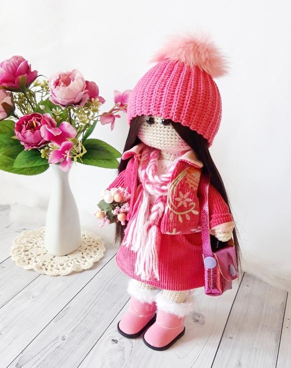 В'язана інтер'єрна лялька, фото №2