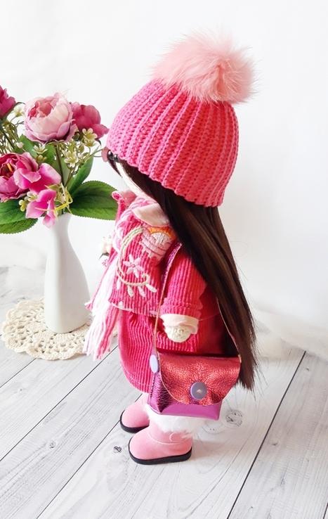 В'язана інтер'єрна лялька, фото №5