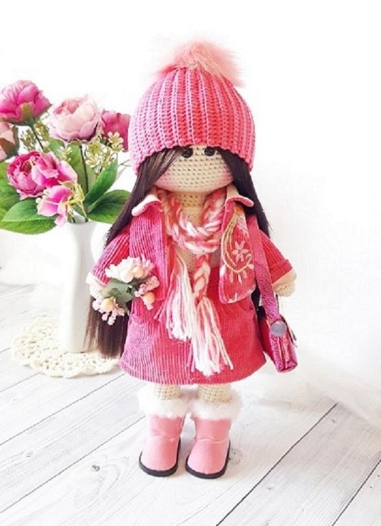 В'язана інтер'єрна лялька, фото №7