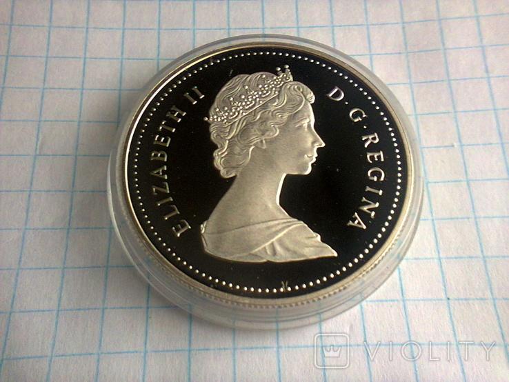 1 доллар, Канада, 1987 г., 400 лет открытию пролива Дейвиса, серебро, 0.500, 23.33 гр., фото №4